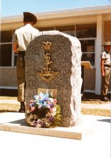 Memorial Stone to 104 Sig Sqn war dead, Malaya Barracks, Holsworthy 16 Oct 1986