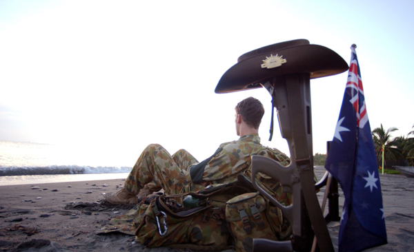 Lance Corporal Blake Douglas of 104 Signals Squadron takes time out to reflect on the history of Anzac Day.
